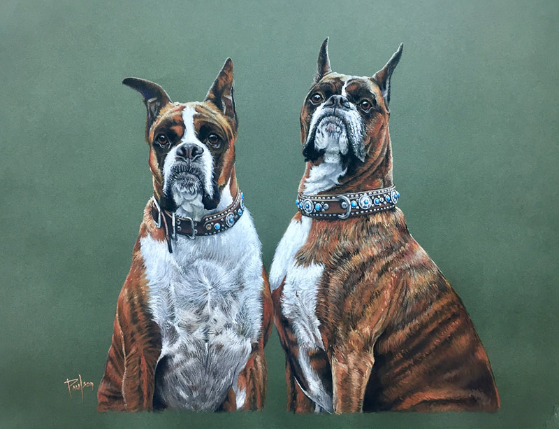 dogs in pastel